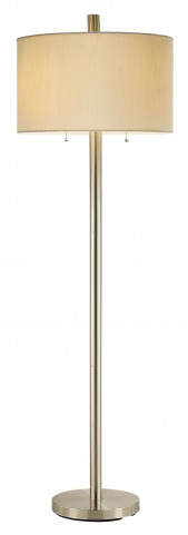 Boulevard Satin Steel Floor Lamp