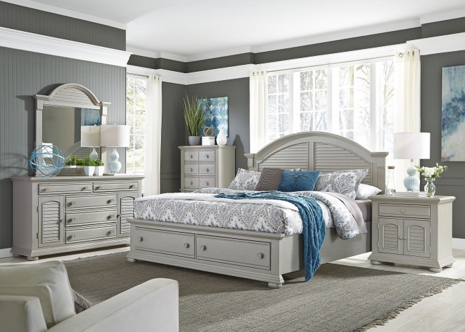 Summer House II Gray Storage Bedroom Set