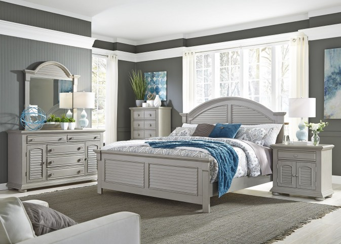 Summer House II Gray Panel Bedroom Set