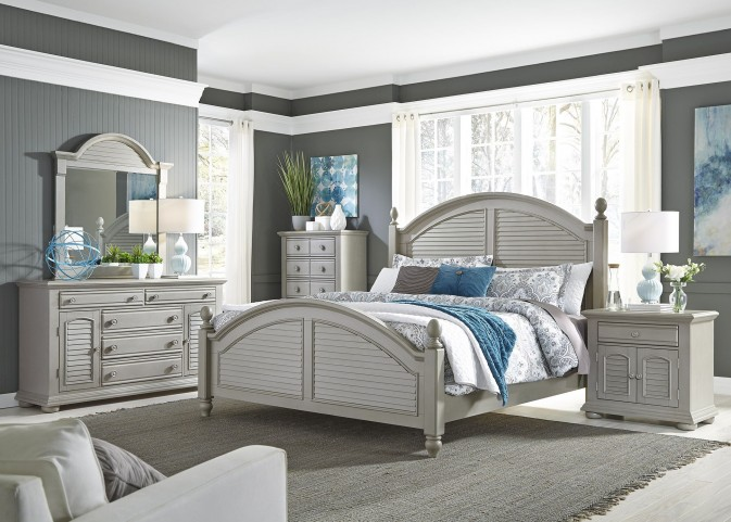 Summer House II Gray Poster Bedroom Set