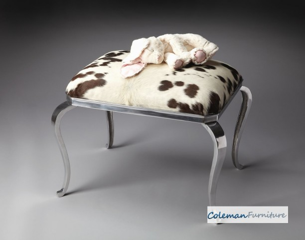 Nickel Plated Ottoman
