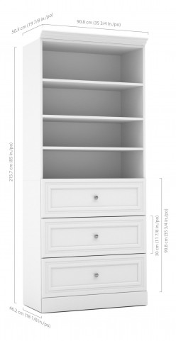 "Versatile White 36"" Storage Unit"