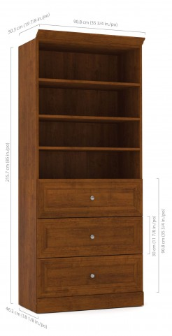 "Versatile Tuscany Brown 36"" Storage Unit"