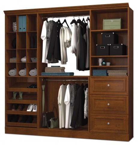 Versatile Tuscany Brown 86'' Storage Wardrobe