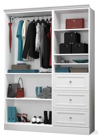 Versatile White 61'' Extra Storage Wardrobe