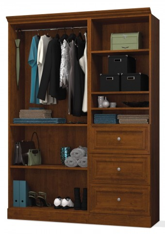 Versatile Tuscany Brown 61'' Extra Storage Wardrobe