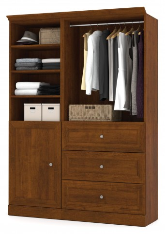 Versatile Tuscany Brown 61'' Storage Wardrobe