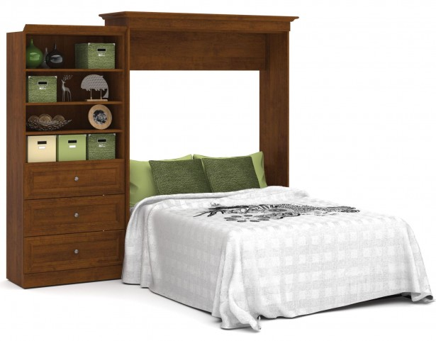 Versatile Tuscany Brown 101'' Queen Wall Bed