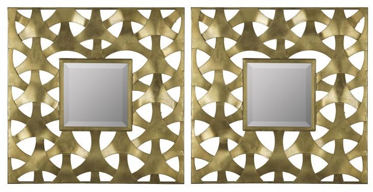 Weston Aged Gold Mirror Set of 2