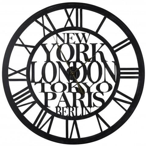 Taban Matte Black Clock