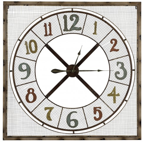 Maxwell Rusted Metal Clock