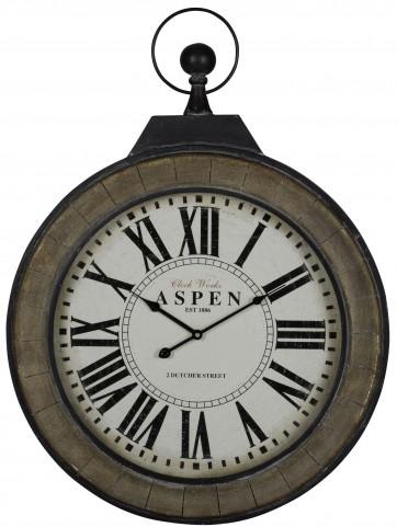 Aspen Black and Painted Wood Clock