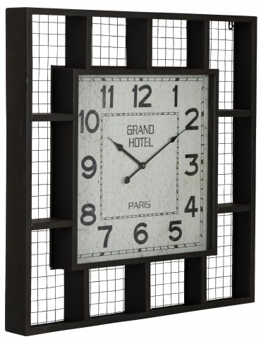 Brianne Matte Black Clock