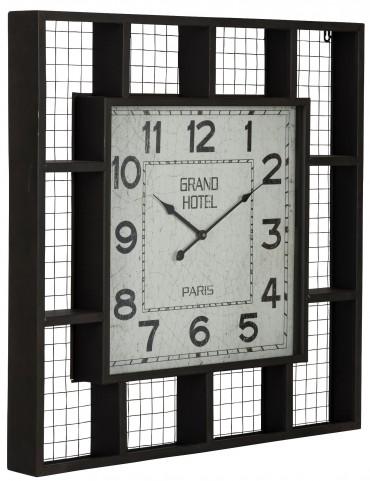 Brianne Matte Black Clock