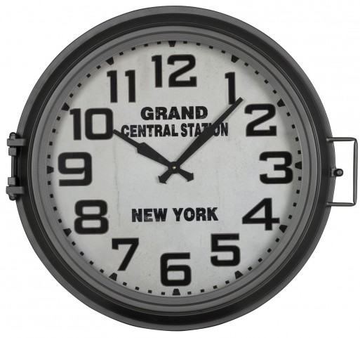 Kendra Gray Metal Clock