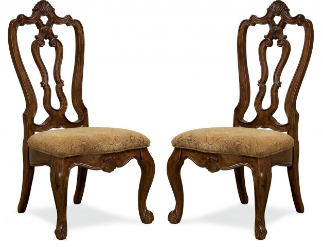 Villa Cortina Carved Back Side Chair Set of 2