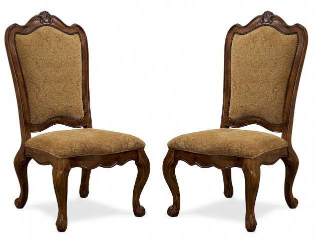 Villa Cortina Upholstered Back Side Chair Set of 2