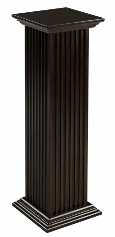 "Square 36"" Cherry Fluted Pedestal"