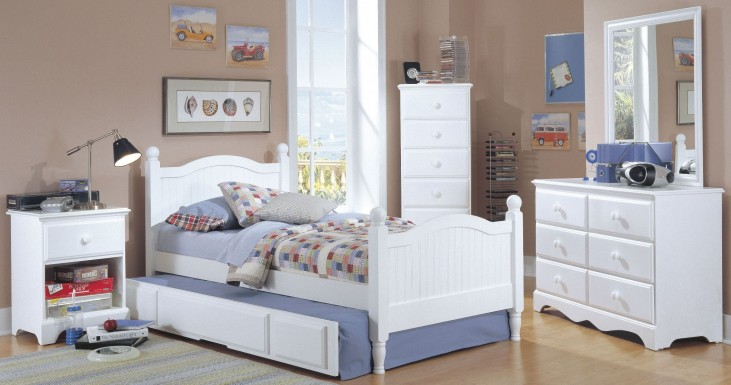 Carolina Cottage White Youth Panel Cottage Bedroom Set