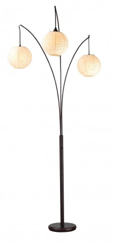 Spheres Antique Bronze Arc Lamp