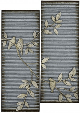 Spring Birds Wall Art- 2 piece Set