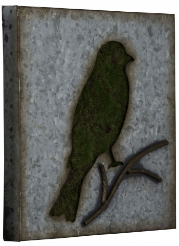 Galvanized Metal Sparrow Wall Art II