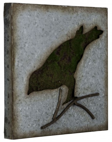 Galvanized Metal Sparrow Wall Art III