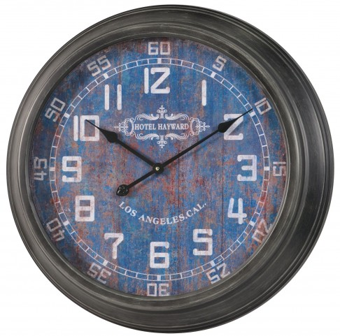 Joella Gray Metal Clock