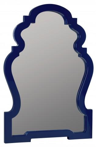 Reba Lacquered Cobalt Mirror
