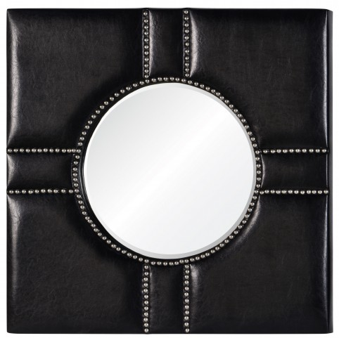 Quentin Black Leather Mirror