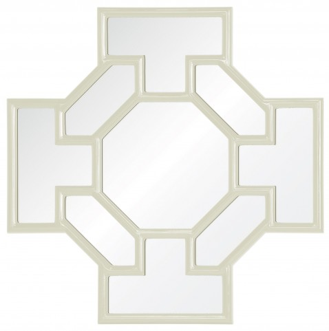 Godric White Lacquered Mirror