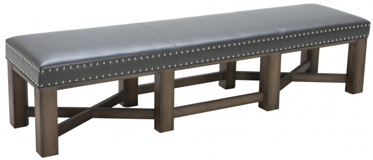 Brixton Bench In Grey
