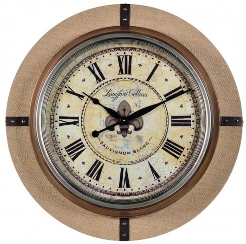 Otis Burlap Clock