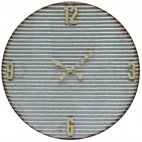 Argus Galvanized Metal Clock