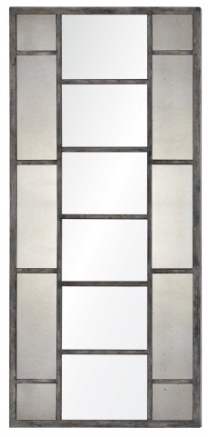 Senna Distressed Gray Mirror