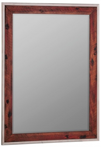 Clovis Stainless Steel Frame Mirror