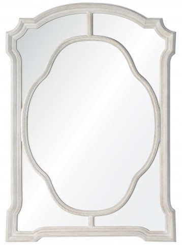 Clove Textured Chalky White Mirror