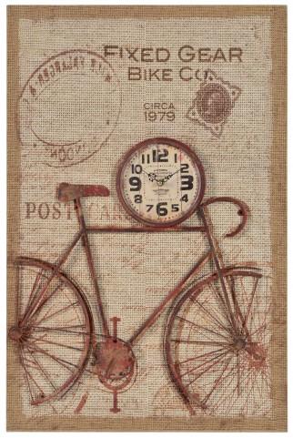 Nixon Printed Burlap Clock