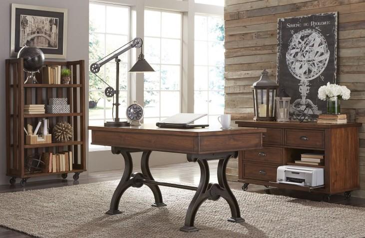 Arlington House Cobblestone Brown Home Office Set