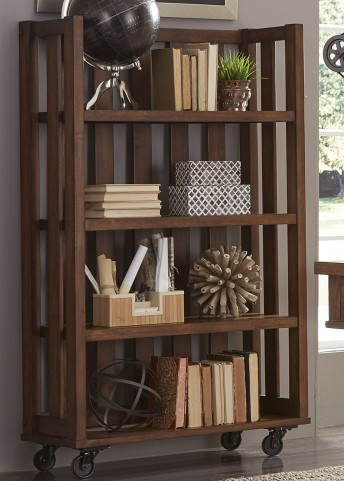 Arlington House Cobblestone Brown Open Bookcase