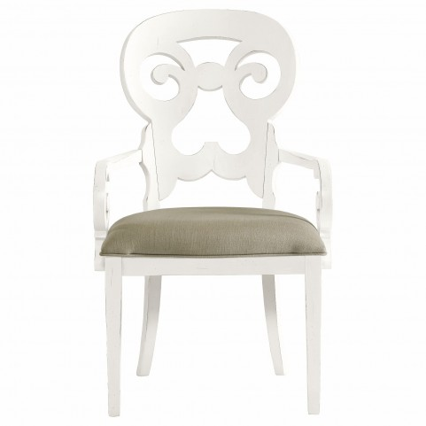 Coastal Living Saltbox White Wayfarer Arm Chair