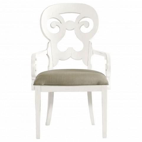 Coastal Living Saltbox White Wayfarer Arm Chair