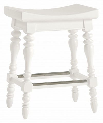 Coastal Living Saltbox White 5 O'Clock Somewhere Counter Stool