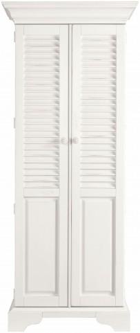 Coastal Living Saltbox White Summerhouse Utility Cabinet
