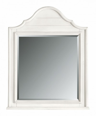 Coastal Living Saltbox White Arch Top Mirror