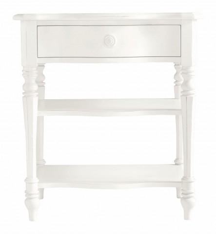 Coastal Living Saltbox White Bedside Table