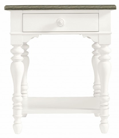 Coastal Living Saltbox White Lamp Table