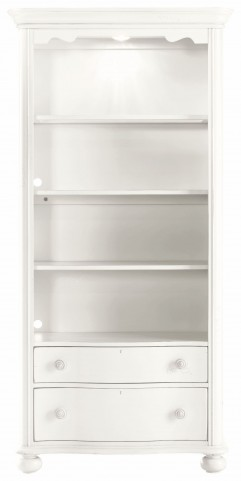 Coastal Living Saltbox White Bookcase