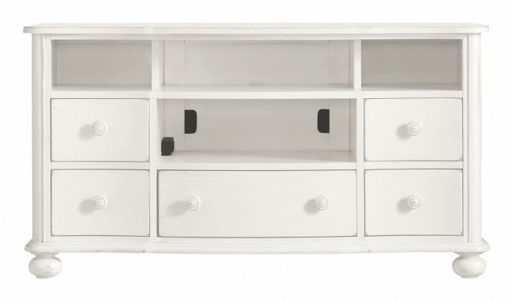 Coastal Living Saltbox White Media Console