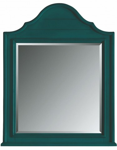 Coastal Living Belize Teal Arch Top Mirror